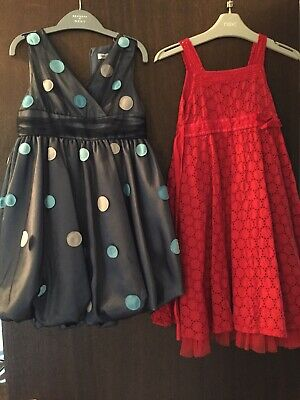 Girls Dresses x2 Age 4-5 Winter Party Christmas Monsoon M&S Marks And Spencer
