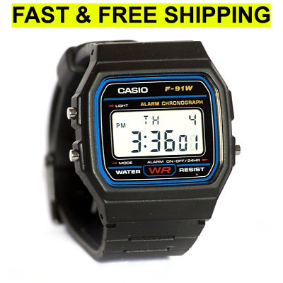 Casio Men's F91W-1 Classic Black Digital Resin Strap Watch