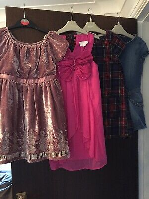 Girls Dresses x4 Bundle Age 6 Winter Party Christmas Next M&S Marks And Spencer