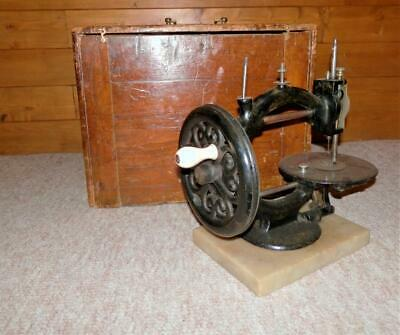 "Vintage - c1867 'Wanzer"" Sewing Machine -  Rare 'No101932' W Box & Accessories"