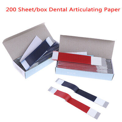 200SheetsDental Articulating Paper Strips Dental Lab Product Teeth Care Strip UK
