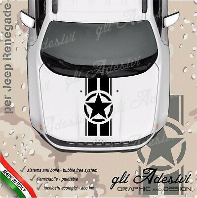 Adhesive for Jeep Renegade and Wrangler for Bonnet with Strap and Stella
