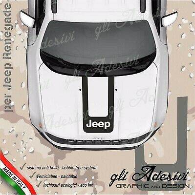Adhesive for Jeep Renegade and Wrangler for Bonnet with Strap