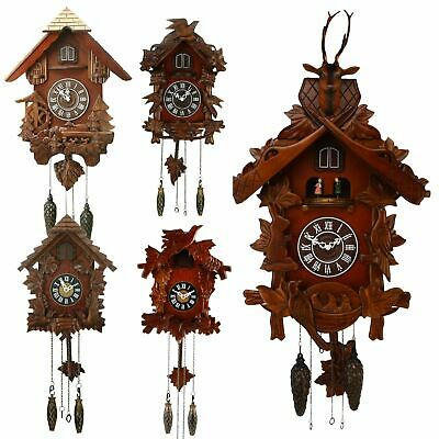 Wm. Widdop Cuckoo Clock Hand Carved Wooden Detailing Different Styles & Sizes