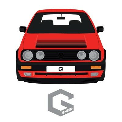 VW Mk2 Golf / Jetta Bonnet decal (Please state colour on purchase)