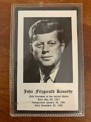 President John F.Kennedy ORIGINAL Death-Funeral Mourning card JFK item