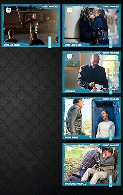 TWD ICONIC MOMENTS WAVE 4 TEAL 5 CARD SET 2019 Topps WALKING DEAD DIGITAL TRADER