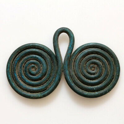 Bronze Age-Ca 2500-1500 Bc Ancient Greek Bronze Armour Spiral Ornament Applique