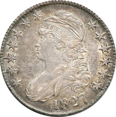 1827 Capped Bust Half Dollar, Almost Uncirculated, 50c C00040777