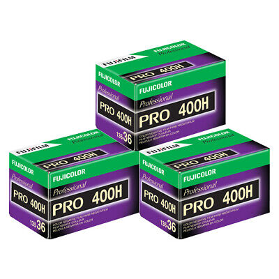3 Rolls Fuji FujiColor Pro 400H Color Negative Film 35mm 36 exp. Fujifilm FRESH