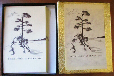 Vintage Antioch Bookplate Company 30 Unused Japanese Pine Tree
