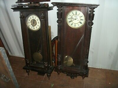 two antique vienna wall clocks spares or repair