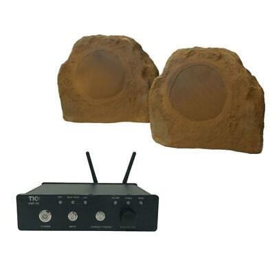 TIC Rock Outdoor Speakers with Airplay Bluetooth Amplifier 100W Ch2