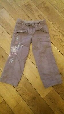 Next brown embroidered trousers age 5 years