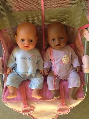 Baby Born Dolls And Double Pram