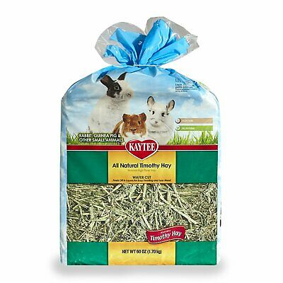 Kaytee Wafer Cut Timothy Hay 60 oz | High Fiber Nutrition | For Small Animals