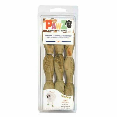 PawZ Protex Dog Boots Water-Proof Paws Disposable Reusable Tiny Camo
