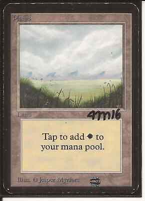 Magic The Gathering - 1x Alpha Signed Plains (mtg) #1