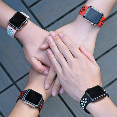 Band Sports iWatch Apple for 5 4 3 2 Series 40/44mm Watch Strap 38/42mm Silicone