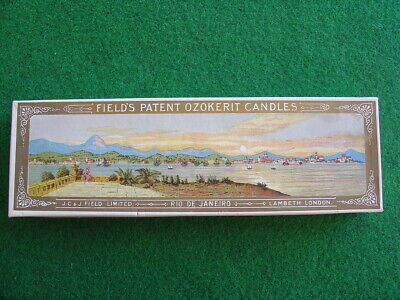 Vintage Field's patent candles box/retro/packaging/grocery