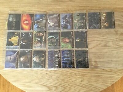 LORD OF THE RINGS THE TWO TOWERS COMPLETE SET OF 20 PROMO CARDS By TOPPS - 2002