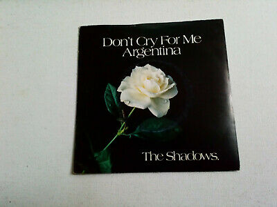 "The Shadows - Dont Cry For Me Argentina - 7"" Vinyl Single 1978"