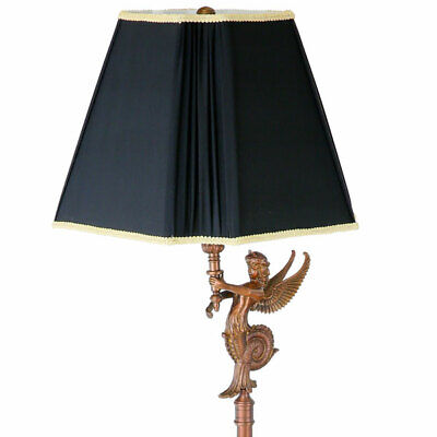 EGYPTIAN STYLE FLOOR LAMP, STEHLAMPE, Imperial Paris² EMPIRE MESSING STANDLAMPE
