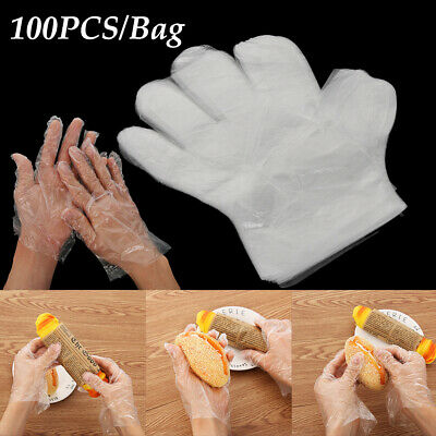 Hygiene Transparente PE One-off Ecological BBQ Plastic Disposable Gloves