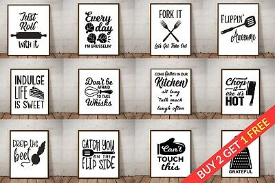 Kitchen Picture Art Poster Prints. Quality Quote Wall Art Funny Home Sayings