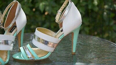 Ladies 'Mimco' All Leather Sandals, Size 7 (38) #1194UB