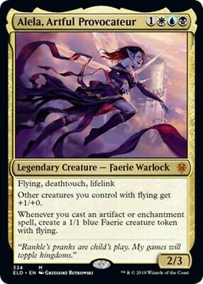 ALELA, ARTFUL PROVOCATEUR (Foil) Throne of Eldraine MTG Gold Creature - Mythic