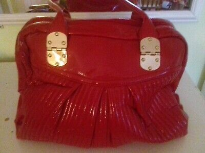 Gorgeous *Marks & Spencer* Pillar Box Red Patent Tote Bag