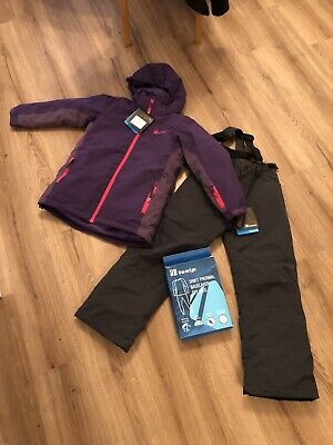 Girls Ski Outfit Including Baselayer Set. Age 9 - 10 Years