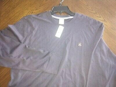 NWT!  XL Brooks Brothers 1818 Large Cotton LS T-Shirt Embroidered Logo