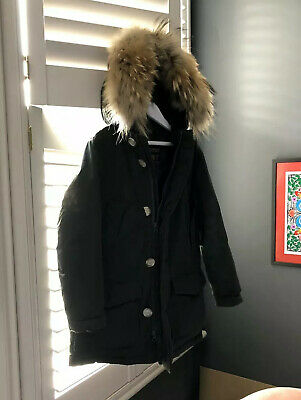 Woolrich Parka with fur (age 6) - Real! Dark Green