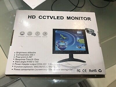 "Cctv test monitor Professional Led 10.1"" Screen."