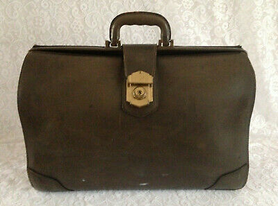 Vintage Leather Doctors Bag Satchel Case Commercial Union Assurance Insurance Co