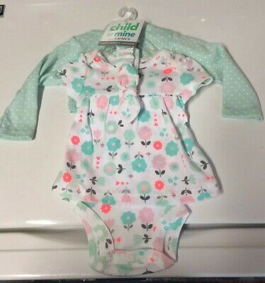 Girls Child Of Mine By Carter's 3-Piece Summer Outfit ~Size Newborn~ NEW