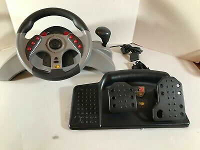 Playstation 1 & 2 MC2. MadCatz Steering Wheel and Foot pedals