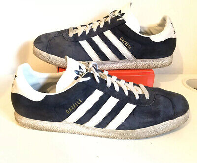ADIDAS GAZELLE : Mens Navy Blue Suede Leather Trainers. : UK 12