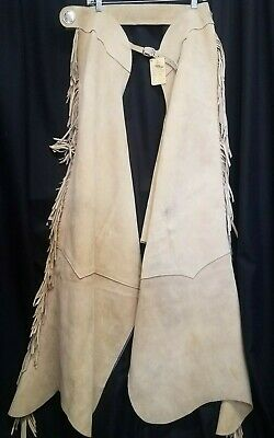 Fringed SAND Suede CHAPS ladies size XL VGC