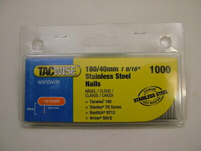 2nd fix Stainless Steel straight brad finish nails 18 gauge 40mm box of 1000