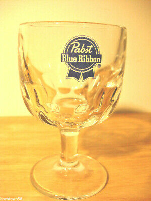 New NOS Pabst beer glass Blue Ribbon original schooner vintage 12 oz  vintage