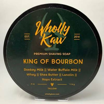 King of Bourbon Shaving Soap (Tallow) - by Wholly Kaw (Pre-Owned)