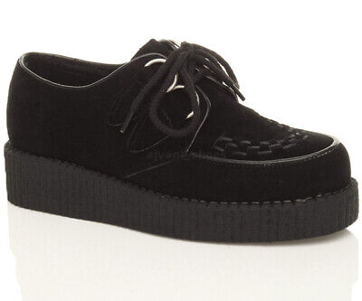 Girls Boys Unisex Kids Childrens Platform Goth Punk Brothel Creepers Size 10