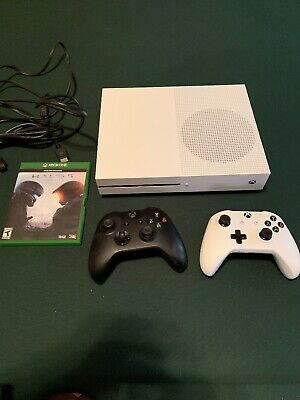 Microsoft Xbox One S - White - 500GB Model 1681 Halo 5  2 Controllers