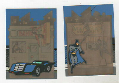 Adventures Of Batman and Robin Thermal Chase Insert Lot of 2 T1 & T3 Skybox