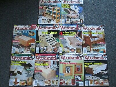 BULK LOT 10x Australian WOODSMITH Magazines From Jan 2018 through Feb/March 2019
