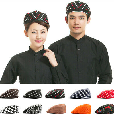 Unisex Men Women Chef Hat Kitchen Cook Catering Baker Duckbill Beret Golf Hats