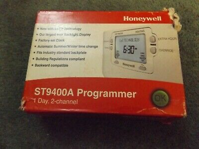 NEW HONEYWELL ST9400A1002 1 day 2 channel Day Central Heating Programmer Wired 2